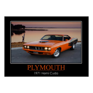 1971 Plymouth Hemi Cuda - Muscle Car Poster