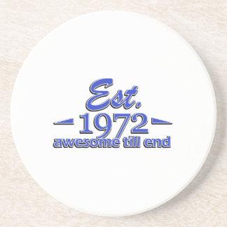 1972 birthday designs beverage coaster