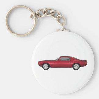 1972 Camaro: Muscle Car: Candy Apple Finish: Basic Round Button Key Ring