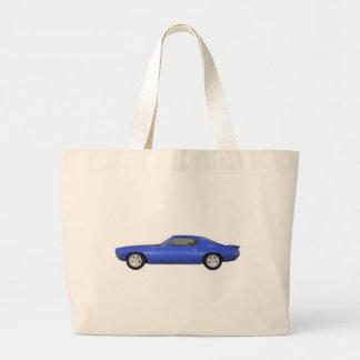 1972 Camaro Z28: Muscle Car: Blue Finish: Jumbo Tote Bag