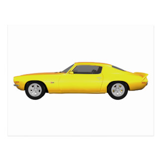 1972 Camaro Z28: Muscle Car: Yellow Finish: Postcard
