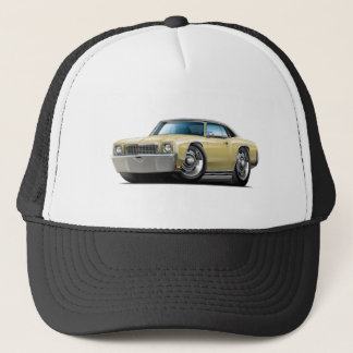 1972 Monte Carlo Tan-Black Top Car Trucker Hat