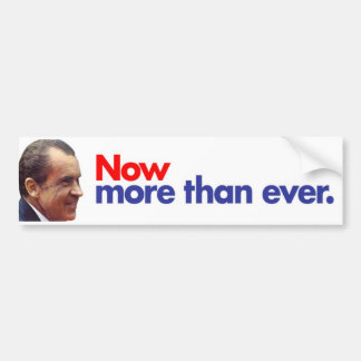 1972 Nixon Now More Than Ever Bumper Sticker