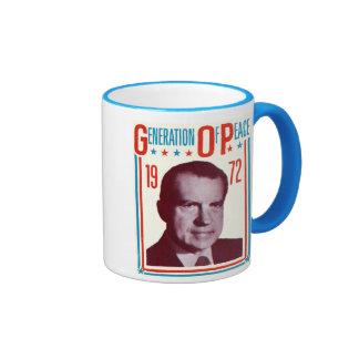 1972 Nixon Presidential Campaign Coffee Mugs