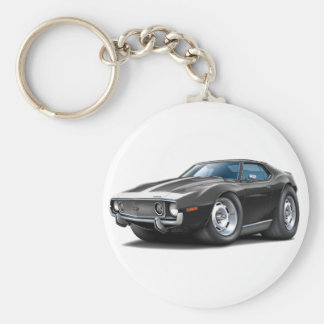1973-74 Javelin Black-White Car Key Ring
