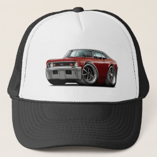 1973-74 Nova Maroon-Black Top Trucker Hat