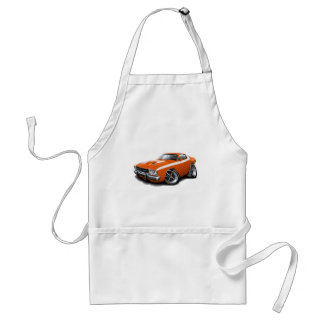 1973-74 Roadrunner Orange-White Car Standard Apron