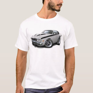 1973-74 Roadrunner White-Black Car T-Shirt