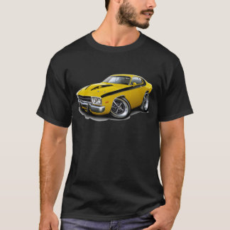 1973-74 Roadrunner Yellow-Black Car T-Shirt