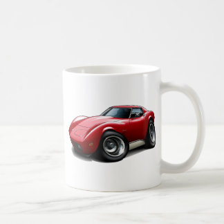 1973-76 Corvette Red Car Coffee Mug
