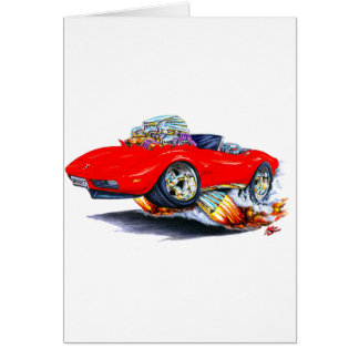 1973-76 Corvette Red Convertible Card