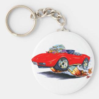 1973-76 Corvette Red Convertible Key Ring