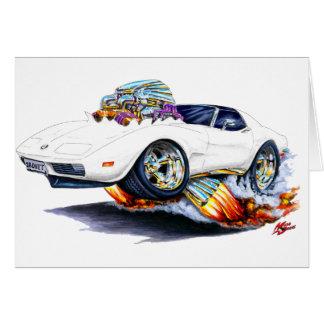 1973-76 Corvette White Car Card