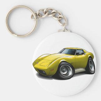 1973-76 Corvette Yellow Car Key Ring