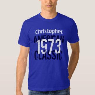 1973 American Classic Custom Name Blue White Y007 Tshirts