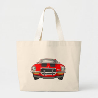 1973 Chevy Camaro Large Tote Bag