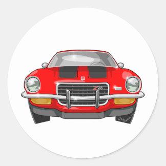 1973 Chevy Camaro Round Sticker
