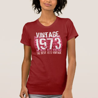 1973 Vintage -  Red  Pink White Birthday G201 T-Shirt