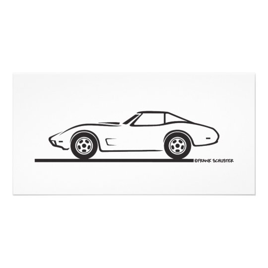 1974 - 1977 Corvette Customised Photo Card