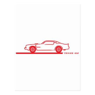 1974-78 Trans Am Red Car Postcard