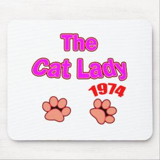 1974 cat lady mousepads