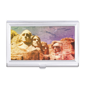 1974 Mount Rushmore Presidential Monument Business Card Holder