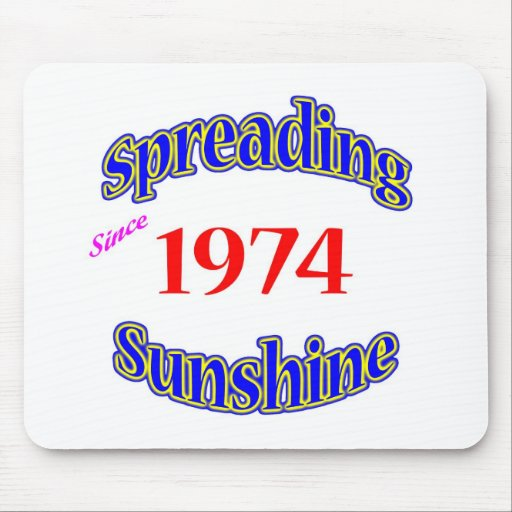 1974 Spreading Sunshine Mouse Pad
