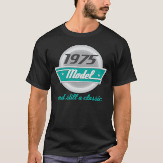 1975 Birth Year Birthday Vintage Model Mens Tshirt
