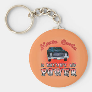 1975 Chevy Monte Carlo. Basic Round Button Key Ring