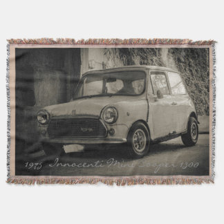 1975  Innocenti Mini Cooper 1300 Throw Blanket
