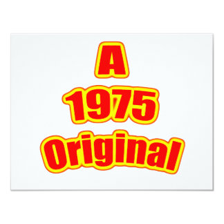 1975 Original Red Card