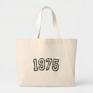 1975 Vintage Birthday Large Tote Bag