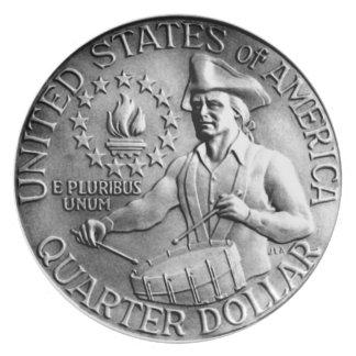 1976 Bicentennial Quarter Reverse Plate