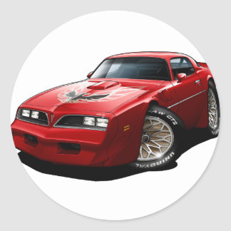1977-78 Trans Am Red Round Sticker