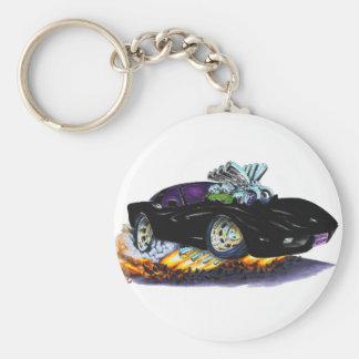 1977-79 Corvette Black Car Key Ring