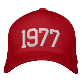 1977 Year Embroidered Hat