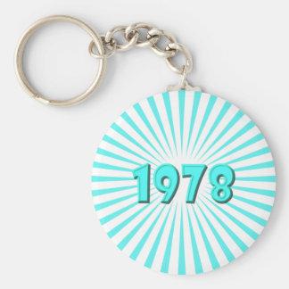 1978 BASIC ROUND BUTTON KEY RING