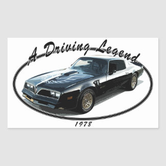 1978_firebird_black01 rectangular sticker