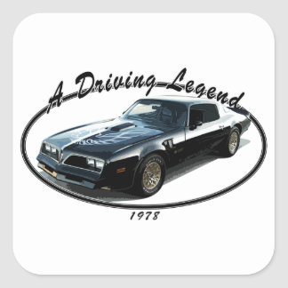 1978_firebird_black01 square sticker