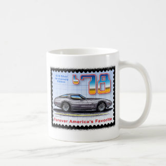 1978 Silver Anniversary Special Edition Corvette Coffee Mug