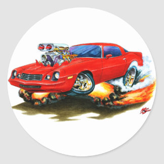 1979-81 Camaro Red Car Classic Round Sticker