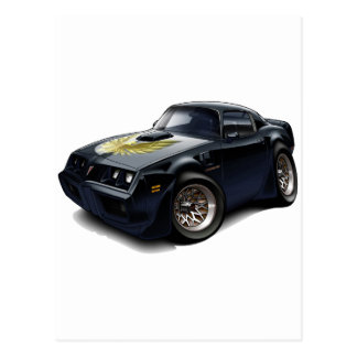 1979-81 Trans Am Black Car Postcard