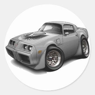 1979-81 Trans Am Grey Car Classic Round Sticker