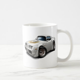 1979-81 Trans Am White Car Coffee Mug