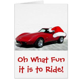 1979 Christmas Red Corvette Card