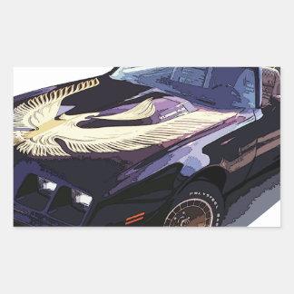 1979_firebird_black01 rectangular sticker