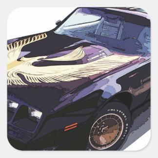 1979_firebird_black01 square sticker