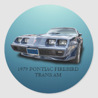 1979 PONTIAC FIREBIRD TRANS AM ROUND STICKER