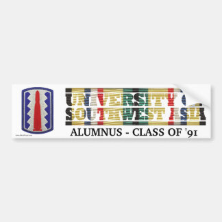 197th Infantry Bde. U of Southwest Asia Sticker Bumper Sticker