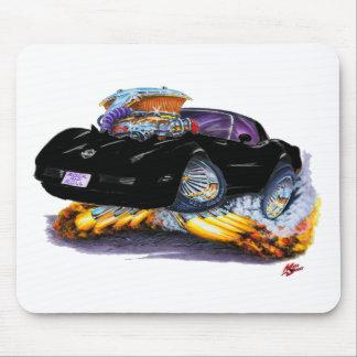 1980-82 Corvette Black Car Mouse Pad